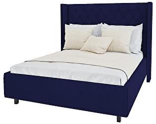 Кровать DG-Home Wing-2 140х200 Велюр Синий