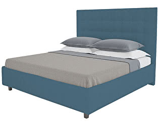 Кровать DG-Home Royal Black 160х200 Велюр Морская волна