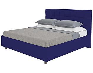 Кровать DG-Home Wales 160х200 Велюр Синий