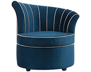 Кресло DG-Home Shell Синее Велюр