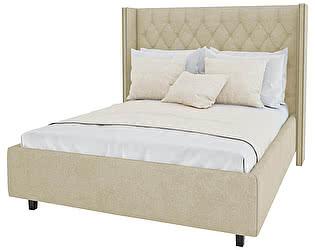 Кровать с декоративными гвоздиками DG-Home Wing 160х200 Лён Классический