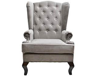 Каминное кресло DG-Home с ушами Велюр Тёмно-серый