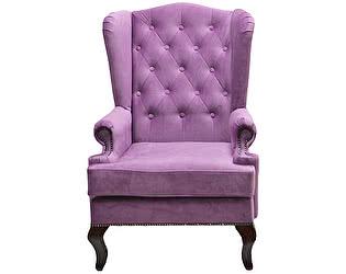 Каминное кресло DG-Home с ушами Велюр Лиловый