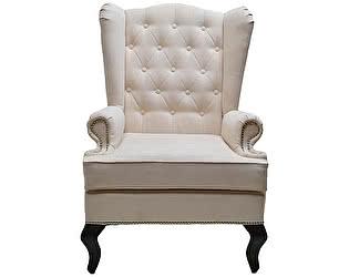 Каминное кресло DG-Home с ушами Велюр Молочный