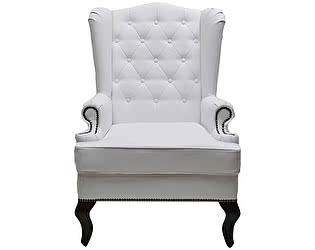 Каминное кресло DG-Home с ушами Велюр Белая