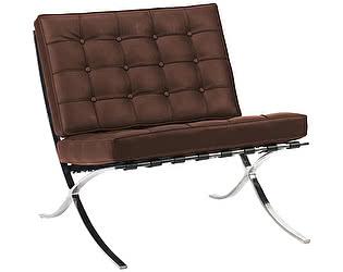 Кресло DG-Home Barcelona Chair Коричневая Экокожа