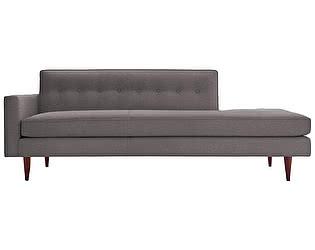 Диван DG-Home Bantam Studio Sofa Коричнево-Серый Микровелюр