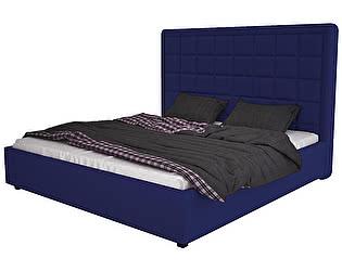 Кровать DG-Home Elizabeth 140х200 Велюр Синий