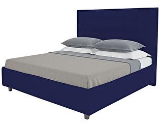 Кровать DG-Home Royal Black 140х200 Велюр Синий