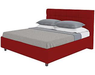 Кровать DG-Home Wales 140х200 Велюр Красный