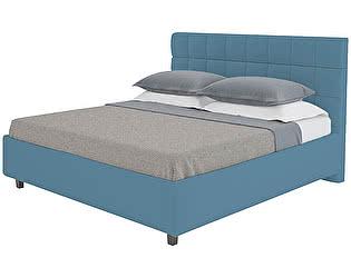 Кровать DG-Home Wales 200х200 Велюр Морская волна