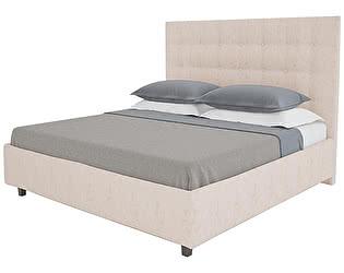 Кровать DG-Home Royal Black 140х200 Велюр Светло-бежевый