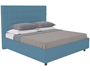 Кровать DG-Home Shining Modern 180х200 Велюр Морская волна