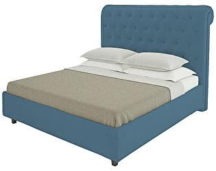 Кровать DG-Home Sweet Dreams 200х200 Велюр Морская волна