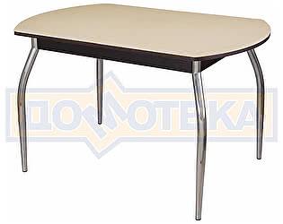 Стол кухонный Домотека Альфа ПО КМ 06 (6) ВН 01 венге песочный камень