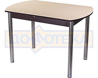 Стол кухонный Домотека Альфа ПО КМ 06 (6) ВН 02 венге песочный камень