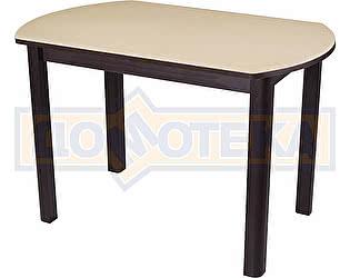 Стол кухонный Домотека Альфа ПО КМ 06 (6) ВН 04 ВН венге песочный камень
