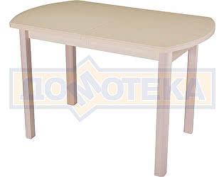 Стол кухонный Домотека Альфа ПО КМ 06 (6) МД 04 МД молочный дуб песочный камень