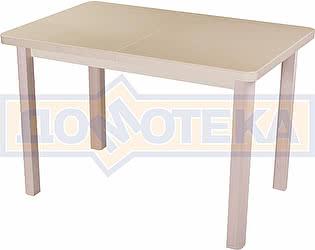 Стол кухонный Домотека Альфа ПР КМ 06 (6) МД 04 МД бежевый ножки беж