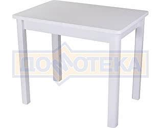 Стол кухонный Домотека Альфа ПР-М КМ 04 (6) БЛ 04 БЛ белый