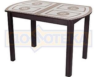 Купить стол Домотека Гамма ПО ВН ст-71 04 ВН венге с греческим орнаментом, ножки венге прямые