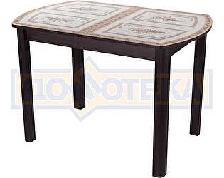 Купить стол Домотека Гамма ПО ВН ст-72 04 ВН венге с растительным узором, ножки венге прямые