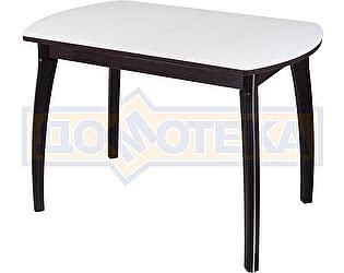 Купить стол Домотека Гамма ПО-1 ВН ст-БЛ 07ВН венге/белый,закаленное стекло