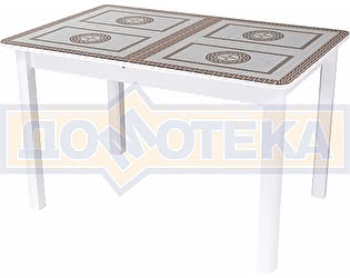Стол кухонный Домотека Гамма ПР БЛ ст-71 04 БЛ белый