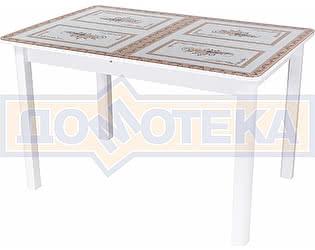 Стол кухонный Домотека Гамма ПР БЛ ст-72 04 БЛ белый