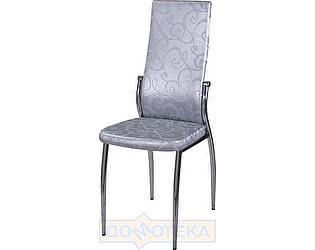 Купить стул Домотека Милано Д-1/Д-1 серебристый с узором, повышенной комфортности