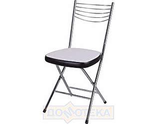 Купить стул Домотека Омега-1 скл. B-0/В-4 искрящийся белый/черный венге, повышенной комфортности
