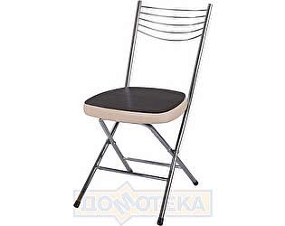Купить стул Домотека Омега-1 скл. В-4/В-1 черный венге/бежевый, повышенной комфортности