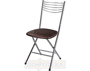 Купить стул Домотека Омега-1 скл. Д-4 коричневый (темная бронза) с узором