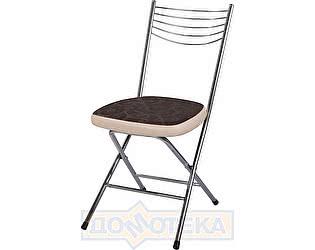 Купить стул Домотека Омега-1 скл. Д-4/В-1 коричневый (темная бронза) с узором/бежевый, повышенной комфортно
