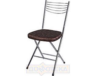 Купить стул Домотека Омега-1 скл. Д-4/Д-4 коричневый (темная бронза) с узором, повышенной комфортности