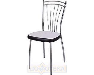 Купить стул Домотека Омега-2 B-0/B-4 искрящийся белый/черный венге, повышенной комфортности