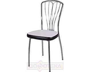 Купить стул Домотека Омега-3 B-0/В-4 искрящийся белый/черный венге, повышенной комфортности