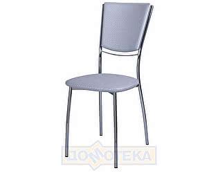 Купить стул Домотека Омега-5 F-7 спF-7 серебристый с плетеной текстурой
