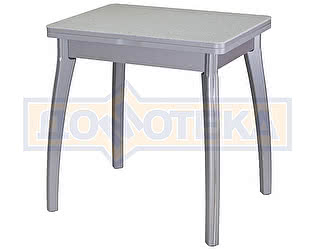Стол кухонный Домотека Реал М-2 КМ 07 (6) СР 07 ВП СР серый