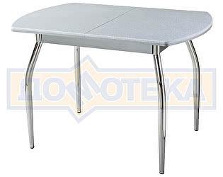 Стол кухонный Домотека Реал ПО КМ 07 (6) СР 01 серый