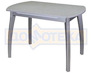 Стол кухонный Домотека Реал ПО КМ 07 (6) СР 07 ВП СР серый