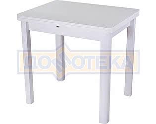 Стол кухонный Домотека Чинзано М-2 БЛ ст-БЛ 04 БЛ белый
