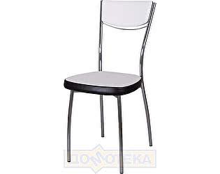 Купить стул Домотека Омега-4 А0/В4, белый с эффектом замши/темный венге, повышенной комфортности