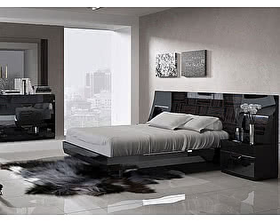 Купить кровать Fenicia Mobiliario FENICIA 505 MARBELLA  (160х200)  черная