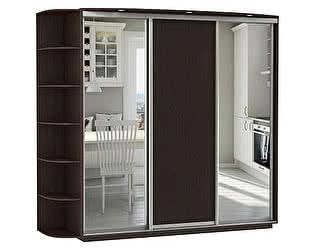 Купить шкаф Е 1 купе 3-х дверный Медиум 2100 (2 зеркала)