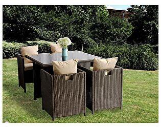 Комплект ЭкоДизайн Cube (стол + 4 кресла) обеденный