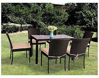 Комплект ЭкоДизайн Family (стол + 6 стульев) обеденный