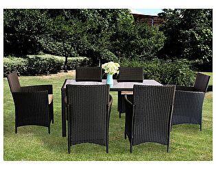 Комплект ЭкоДизайн Helsinki (стол + 6 кресел) обеденный