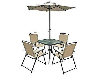 Комплект садовый ЭкоДизайн Vine (стол + 4 кресла + зонт)