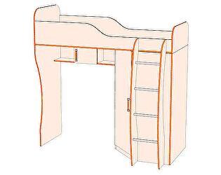 Кровать-чердак №3, шкаф угловой №2 Джуниор